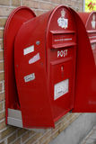 VANDALIZED POST BOXES AND STOLEN MAIL Stock Images
