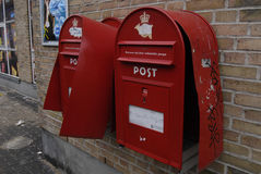 VANDALIZED POST BOXES AND STOLEN MAIL Royalty Free Stock Images