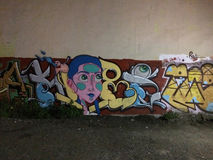Vandalized Street Graffiti Art In Mexico stock photography
