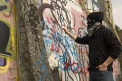 Vandalo dei graffiti Immagini Stock Libere da Diritti
