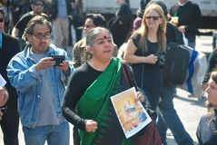 Vandana Shiva, occupy wall street Royalty Free Stock Photo