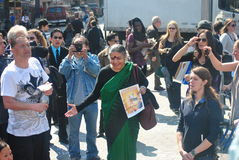 VANDANA SHIVA, OCCUPY WALL STREET Royalty Free Stock Images