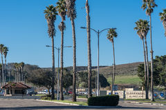 Vandenberg Air Force Base entrance near rocket launch sites. Stock Images