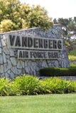 Vandenberg Luftwaffenstützpunkt (AFB) in Kalifornien, USA Stockbilder