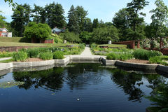 Vanderbilt Mansion Gardens. The pond in the Italian Gardens at Vanderbilt Mansion in Hyde Park, NY Royalty Free Stock Images