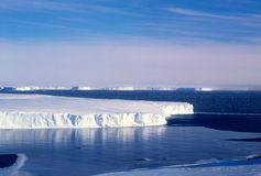 Vanderford Glacier. The massive Vanderford Glacier along the coast of Antarctica south of the Antarctic research base Casey Stock Image