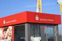 Vandor de Sparkasse Holstein dans le Burg Fermarn Allemagne photographie stock libre de droits