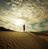 Vandring i öken arkivfoton