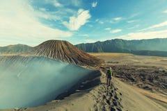 Vandring i Indonesien royaltyfria bilder