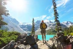 Vandring i Kanada Arkivfoto