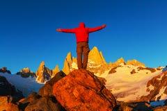 Vandring i Patagonia royaltyfria bilder