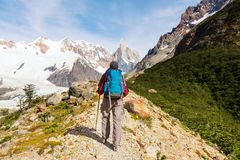 Vandring i Patagonia royaltyfri bild