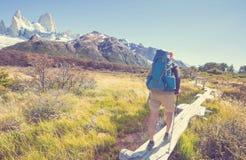 Vandring i Patagonia royaltyfria foton