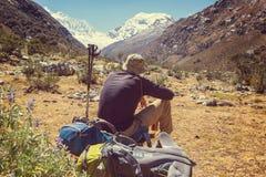 Vandring i Peru Fotografering för Bildbyråer
