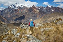 Vandring i Peru Royaltyfri Fotografi