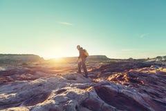 Vandring i Utah royaltyfria foton