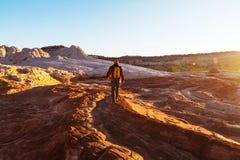 Vandring i Utah arkivfoton