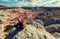 Vandring i Utah arkivbilder