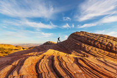 Vandring i Utah Fotografering för Bildbyråer