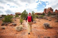 Vandring i Utah royaltyfri fotografi