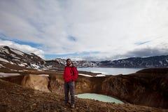 vandring iceland fotografering för bildbyråer