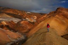 vandring iceland royaltyfri fotografi