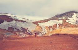 vandring iceland arkivbild