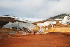 vandring iceland arkivfoton