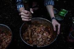 Vandring och mat Royaltyfria Bilder