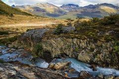 Vandring till Laguna Esmeralda, Ushuaia, Tierra del Fuego, Argentina Fotografering för Bildbyråer