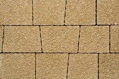Vandringsled för tegelsten för kvarter för sten för förberedande sten för trottoartextur Fotografering för Bildbyråer
