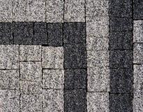 Vandringsled för tegelsten för kvarter för sten för förberedande sten för trottoartextur Arkivbilder