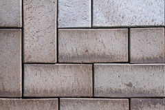 Vandringsled för tegelsten för kvarter för sten för förberedande sten för trottoartextur Royaltyfria Foton