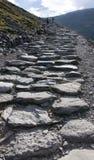 Vandringsled som klättrar monteringen Snowdon Arkivfoton