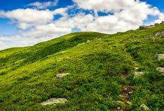 Vandringsled till och med bergkanten Fotografering för Bildbyråer