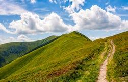 Vandringsled till och med bergkanten Royaltyfri Fotografi