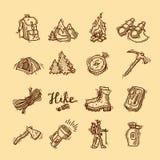 vandringsymboler stock illustrationer