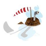 vane περισκοπίων ημέρας groundhog και Στοκ εικόνα με δικαίωμα ελεύθερης χρήσης