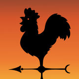 Vane. Ancient wind indicator in the form of a rooster. Vector Image. Royalty Free Stock Image