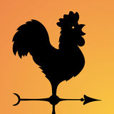 Vane. Ancient wind indicator in the form of a rooster. Vector Image. Royalty Free Stock Photography