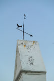 Vane. Old iron weathervane shaped arrow Stock Photography