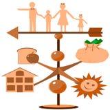 vane rodzinna pogoda ilustracji