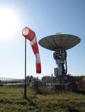 Vane and satellite antenna in airport Stock Image