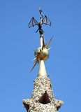 Vane on the tower. Of the palace Guell. architect Gaudi Stock Images