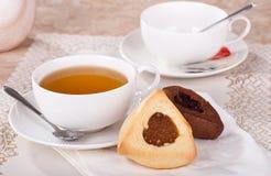 Vanella und Schokolade Hamantash-Plätzchen Lizenzfreie Stockfotos