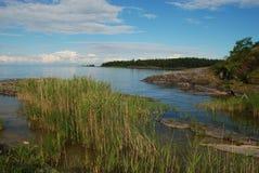 Vanern largest lake in Sweden. Swedish landscape Royalty Free Stock Photos