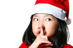 Vanessa, ajudante pequeno de Santa Fotografia de Stock