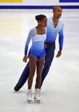Vanessa James und Yannick Bonheur (FRA) Lizenzfreie Stockfotos