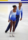 Vanessa James and Yannick Bonheur (FRA) Royalty Free Stock Photos