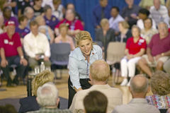 Vanessa Kerry shaking hand of attendee at Kerry campaign rally, Valley View Rec Center, Henderson, NV Royalty Free Stock Photo